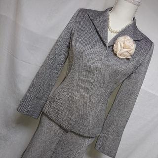 クードシャンス(COUP DE CHANCE)の美品 クードシャンス 白黒ツイードが上品なスカートスーツ サイズ38・36(スーツ)
