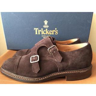 トリッカーズ(Trickers)の新品 トリッカーズ ダブルモンク ストラップ スエード ストレートチップ (ローファー/革靴)