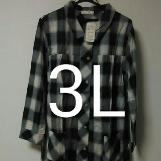 大きいサイズシャツ 3L(シャツ/ブラウス(長袖/七分))