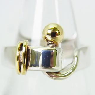 ティファニー(Tiffany & Co.)のティファニー 925/750 フックアンドアイ リング 6号 [g145-2](ネックレス)
