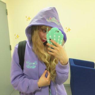 ペコクラブ(PECO CLUB)のpecoclub ジップパーカー紫(パーカー)