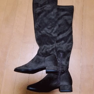 ◆ローヒールスエードロングブーツ◆(ブーツ)