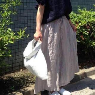 ネストローブ(nest Robe)の★miyu様専用★ネストローブ ランダムストライプ リネン ワイドパンツ (カジュアルパンツ)