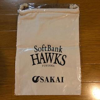 ソフトバンク(Softbank)のソフトバンク Soft Bank HAWKS コットン 巾着(ノベルティグッズ)