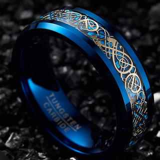 Vakki  指輪 メンズ ブルー 13.5号(リング(指輪))
