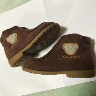 ファミリア(familiar)のファミリア 14.5 ブーツ 靴 茶色 ブラウン フォーマル(ブーツ)
