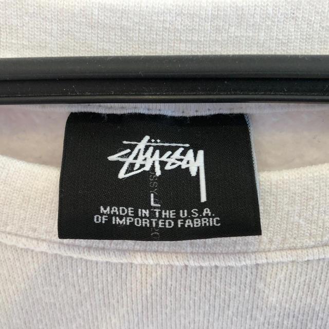 STUSSY(ステューシー)のSTUSSY トレーナー ロゴ刺繍 レディースのトップス(トレーナー/スウェット)の商品写真
