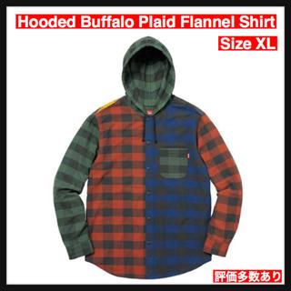 シュプリーム(Supreme)の【XL】Hooded Buffalo Plaid Flannel Shirt(シャツ)