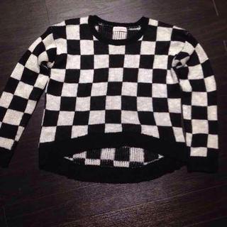 シマムラ(しまむら)のモノトーン 市松模様セーター(ニット/セーター)