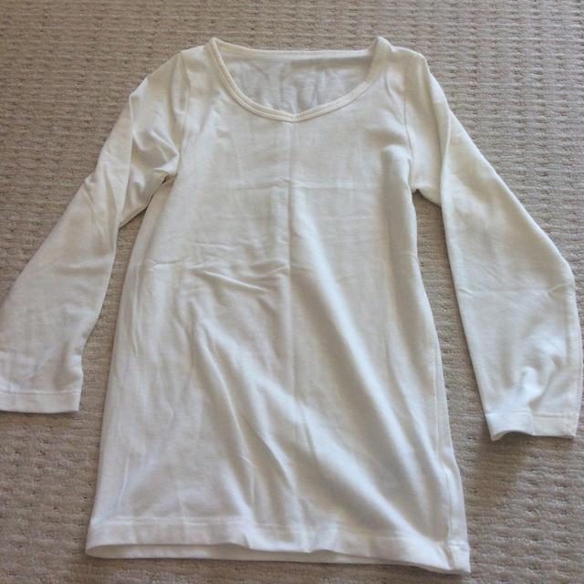 GU(ジーユー)のGU 110  肌着 長袖 子供  キッズ/ベビー/マタニティのキッズ服女の子用(90cm~)(下着)の商品写真