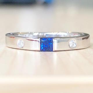 スタージュエリー(STAR JEWELRY)の✨デイリー使用に✨サファイア❣️ダイヤモンド K18 18金 リング 指輪(リング(指輪))