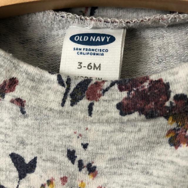 Old Navy(オールドネイビー)のオールドネイビー 花柄スウェットトップス ワンピース キッズ/ベビー/マタニティのベビー服(~85cm)(ワンピース)の商品写真
