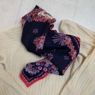 ルイヴィトン(LOUIS VUITTON)の未使用 ルイヴィトン  スカーフ  カレ コーラル インディゴ(バンダナ/スカーフ)