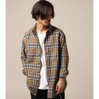 RAGEBLUE - レイジブルー TRビッグシルエットチェックシャツ S