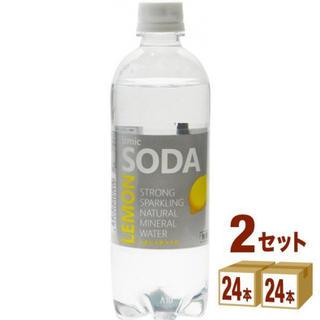 強炭酸水 izmic SODA レモン 500ml 48本 天然水 炭酸水