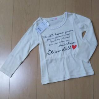 オリーブデオリーブ(OLIVEdesOLIVE)の【新品タグ付き】OLIVE des  OLIVE カットソー 100cm(Tシャツ/カットソー)