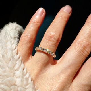 ダイヤモンドリング ハーフエタニティリング 1カラット(リング(指輪))
