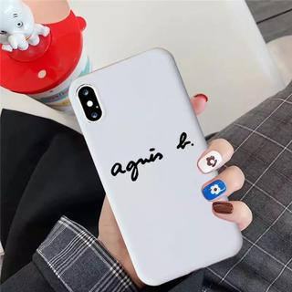 アニエスベー(agnes b.)のアニエスベー ホワイト iphoneケース iPhone7.8(iPhoneケース)