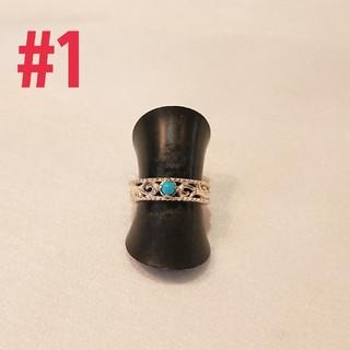 silver925 透かしアラベスクターコイズring#1(リング(指輪))
