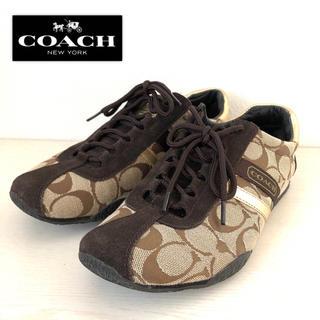 COACH - 【超美品】コーチ シグネチャー柄スニーカー サイズ24.5cm