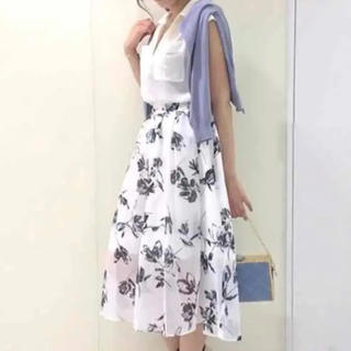 トランテアンソンドゥモード(31 Sons de mode)のオーガンジー花柄ロングスカート(ロングスカート)