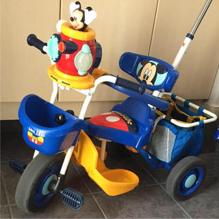 ディズニー(Disney)のミッキー ポップンカーゴ三輪車(三輪車)
