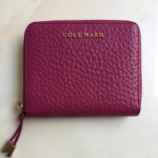 コールハーン(Cole Haan)の美品☆コールハーン ピンク2つ折り財布(財布)