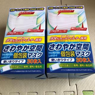 釣り具様専用 さわやか空間個別包装マスク30枚 2箱セット(日用品/生活雑貨)