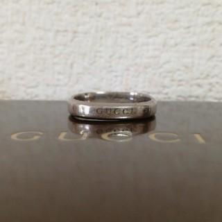 グッチ(Gucci)のGUCCIグッチ 希少大サイズ19号 18kホワイトゴールド スクエアリング本物(リング(指輪))