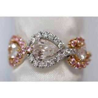 K18 モルガナイト 1.70ct ダイヤモンド 0.27ct ピンクサファイア(リング(指輪))