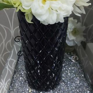 フランフラン(Francfranc)のフランフラン 花瓶 ブラック ホワイト (花瓶)