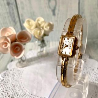 アガット(agete)の【美品】agete アガット 腕時計 0.02ct イエローゴールド(腕時計)