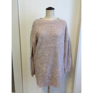 ナチュラルクチュール(natural couture)のnatural couture  袖ケーブルループニット(ニット/セーター)