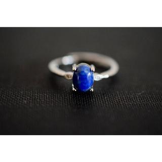 33-124 本物 天然ラピスラズリ 青金石 リング 指輪(リング(指輪))
