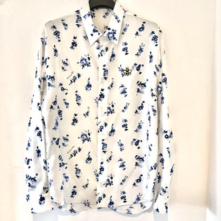ディオールオム(DIOR HOMME)の新品 ディオールオム シルク シャツ カウズ トップス Dior ホワイト(シャツ)
