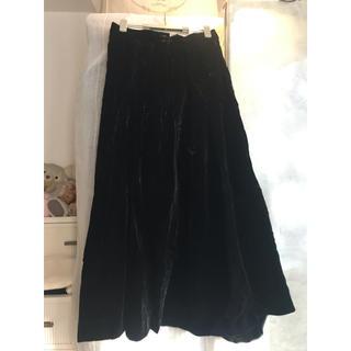ラルフローレン(Ralph Lauren)のベロアスカート プリーツスカート(ロングスカート)
