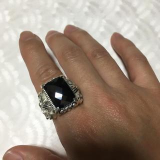ブラック  ストーン  シルバー925  リング(リング(指輪))