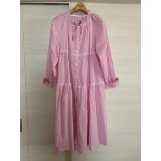 narue - ★ナルエー★ワンピースパジャマ♪ピンク色ルームウェア★新品美品♪部屋着♪