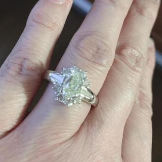 huhu様専用です   期間限定プラチナイエローダイヤモンドリング(リング(指輪))