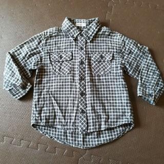 長袖シャツ チェックシャツ 100(Tシャツ/カットソー)