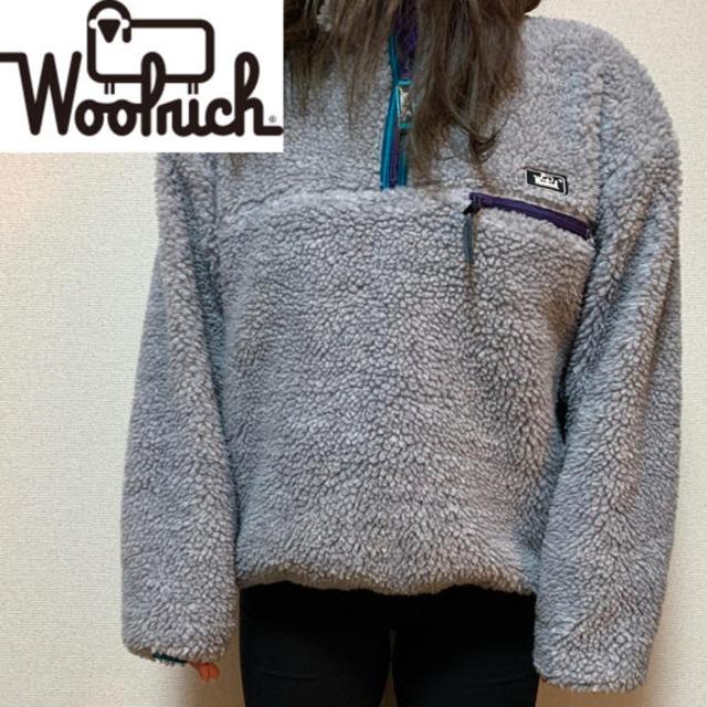 WOOLRICH(ウールリッチ)の大幅値下げ![激レア90s (ウールリッチ)リバーシブルボアジャケット メンズのジャケット/アウター(ブルゾン)の商品写真
