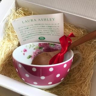 ローラアシュレイ(LAURA ASHLEY)のローラアシュレイ  スープカップ&スプーンセット(グラス/カップ)