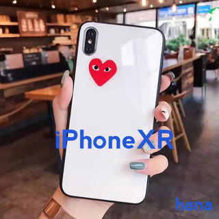 コムデギャルソン(COMME des GARCONS)のギャルソン ♡ iPhoneケース iPhoneXR ツヤ 白 ハート(iPhoneケース)