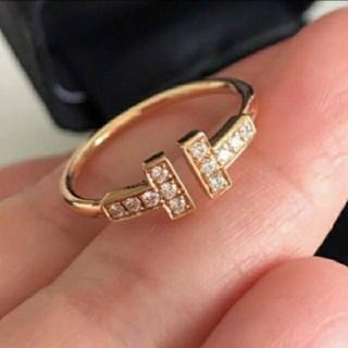 ティファニー(Tiffany & Co.)のTiffany ティファニー Tリング ピンクゴールド(リング(指輪))