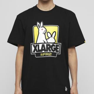 エクストララージ(XLARGE)のFR2  XLARGEコラボTシャツ 黒 XL(Tシャツ/カットソー(半袖/袖なし))