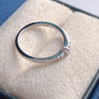 ヴァンドームアオヤマ(Vendome Aoyama)のヴァンドーム K18 WG ダイヤリング ピンキーリング(リング(指輪))
