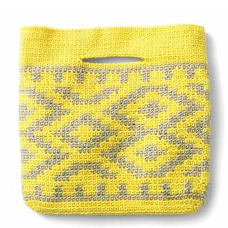 FELISSIMO - 日差しに映える鮮やか色かぎ針アクセントバッグ