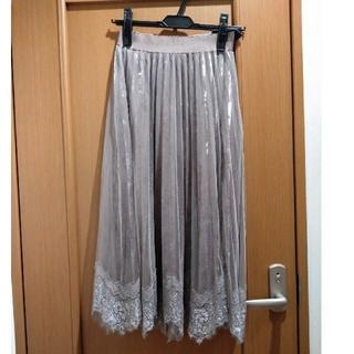 プロポーションボディドレッシング(PROPORTION BODY DRESSING)のプロポーション ベロアプリーツチュールスカート(ロングスカート)