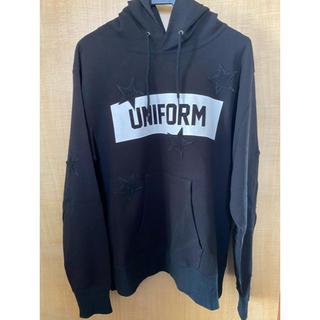 ユニフォームエクスペリメント(uniform experiment)のuniform experiment スターパーカー 美品(パーカー)