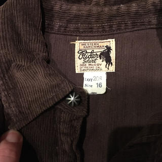 ザリアルマッコイズ(THE REAL McCOY'S)のMcCOYマッコイ コーディロイシャツ(シャツ)